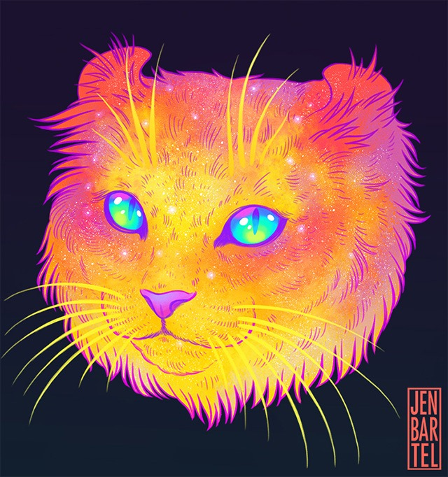 Galactic-Cats-Illustrations-by-Jen-Bartel-02