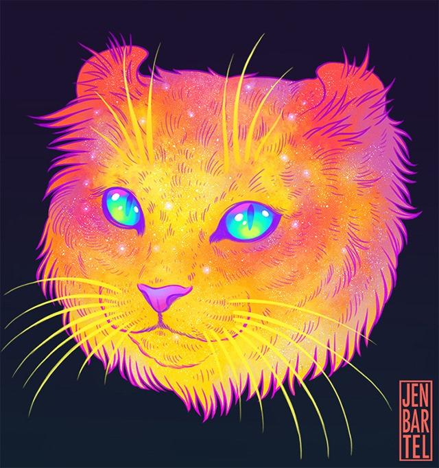 Galactic-Cats-Illustrations-by-Jen-Bartel-02