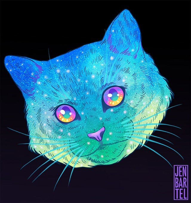 Galactic-Cats-Illustrations-by-Jen-Bartel-04