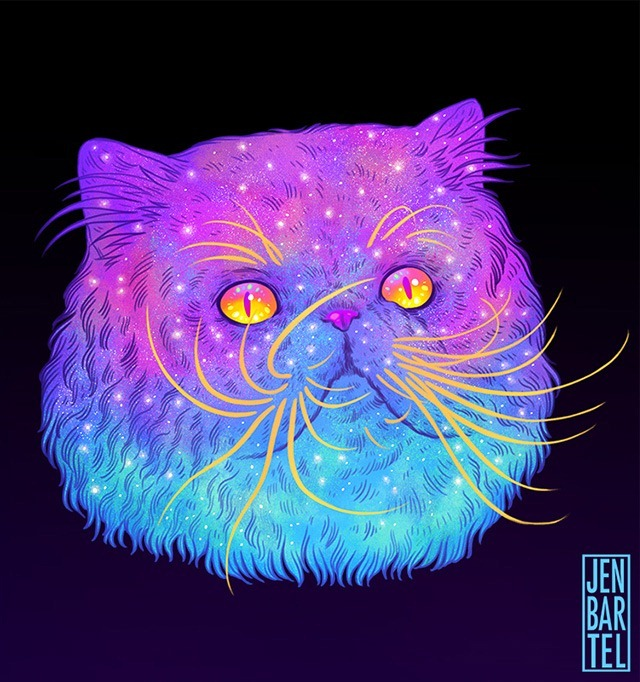 Galactic-Cats-Illustrations-by-Jen-Bartel-05