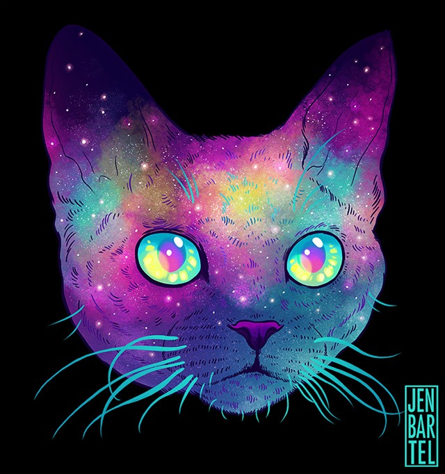Galactic-Cats-Illustrations-by-Jen-Bartel-06