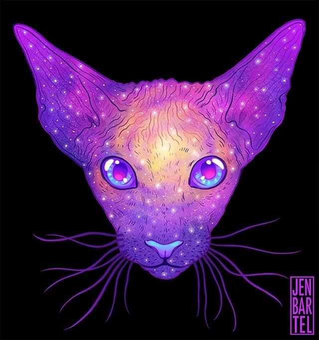 Galactic-Cats-Illustrations-by-Jen-Bartel-07
