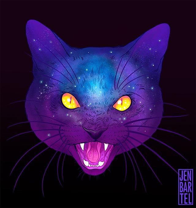 Galactic-Cats-Illustrations-by-Jen-Bartel-08