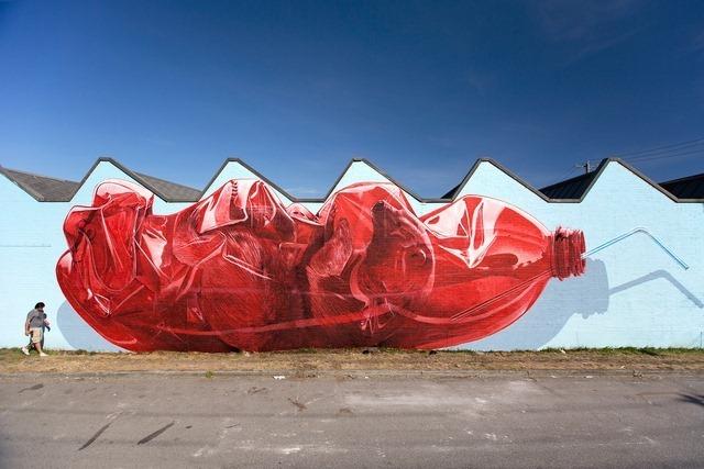 Exhausting Machine Street Art Mural by NEVERCREW 1