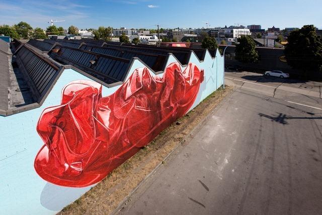 Exhausting Machine Street Art Mural by NEVERCREW 3