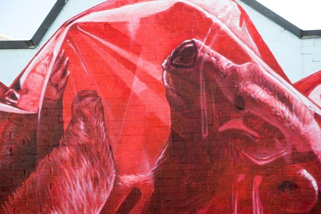 Exhausting Machine Street Art Mural by NEVERCREW 5