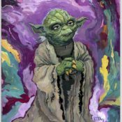 """Old Wise One"" - Stunning Painting of Jedi Master Yoda by Rich Pellegrino"