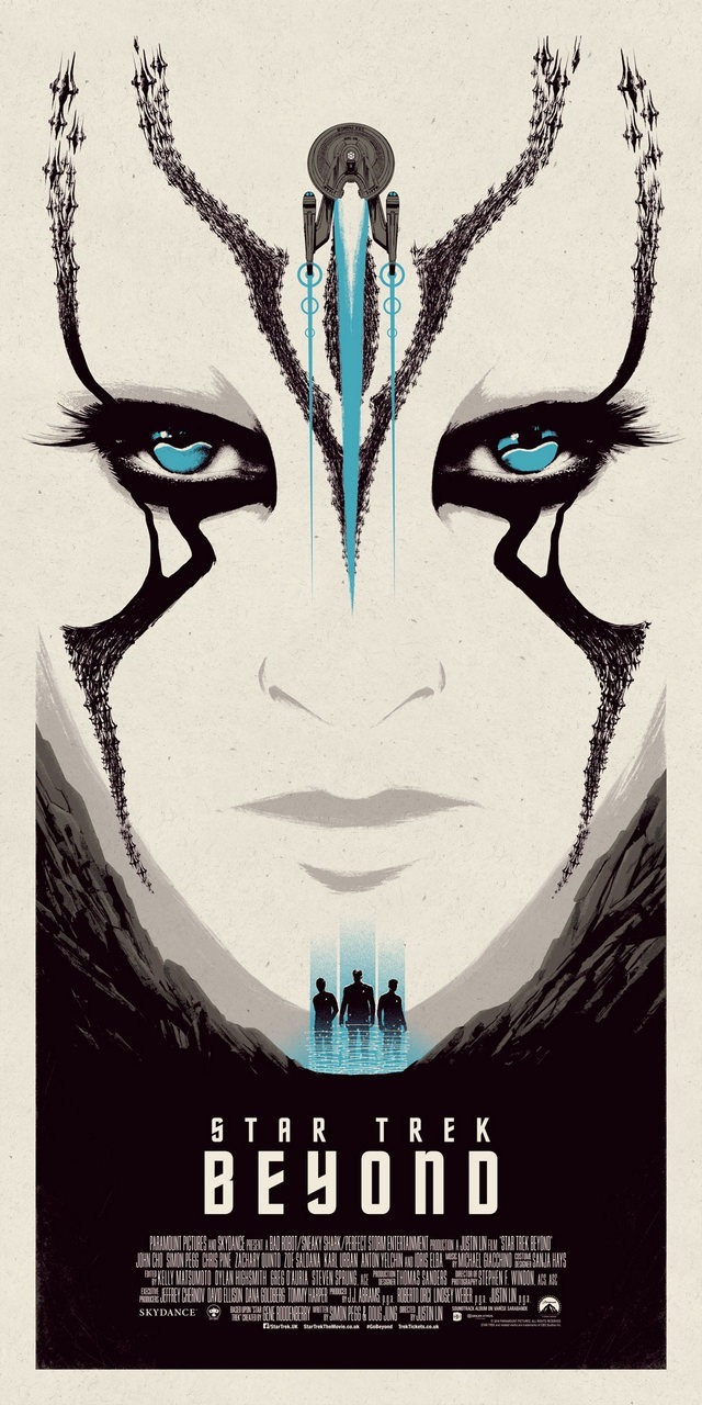 Star Trek Beyond Print Blue Edition by Matt Ferguson