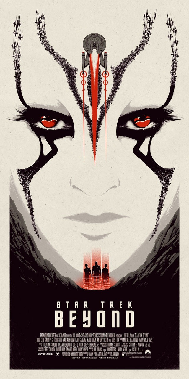 Star Trek Beyond Print Red Edition by Matt Ferguson