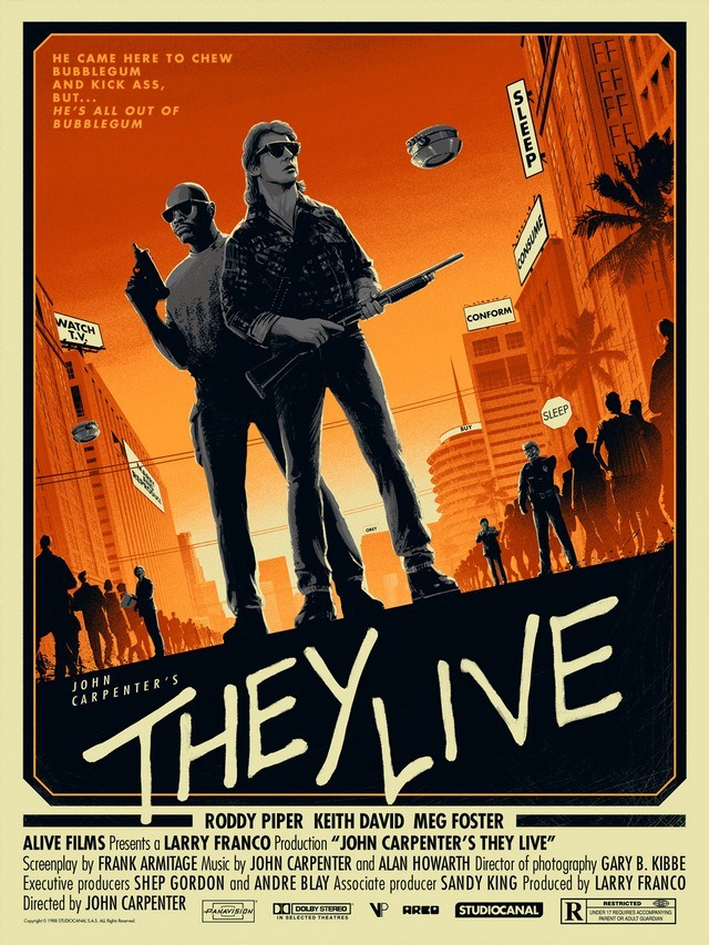They Live Art Print by Matt Ferguson
