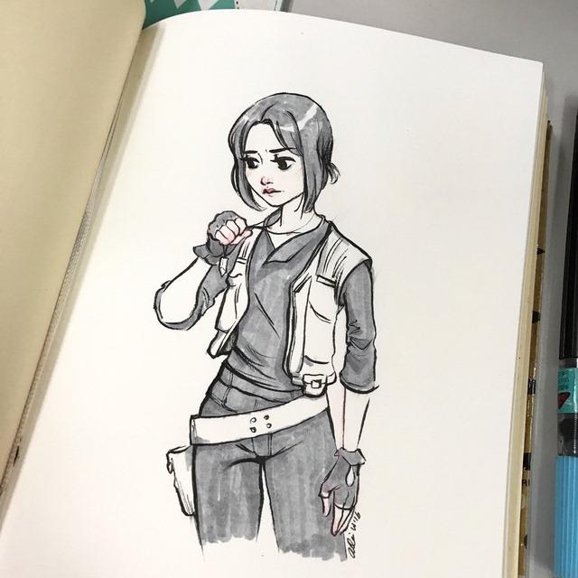 Sketch 114 Jyn Erso