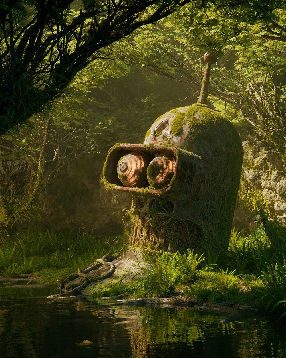 Bender Futurama Pop Culture Dystopia Filip Hodas