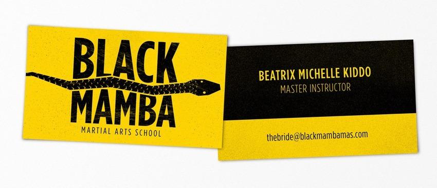 Black Mamba Kill Bill pop-culture-business-card-07