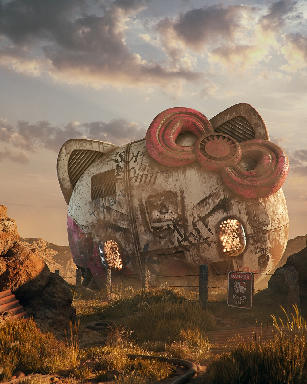 Hello Kitty Pop Culture Dystopia Filip Hodas