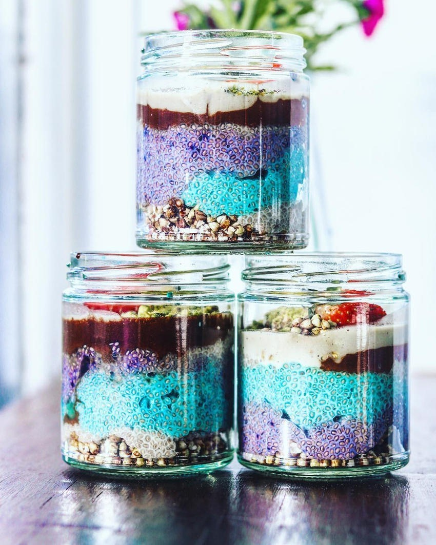 Sam Murphy Galactic chia puddings