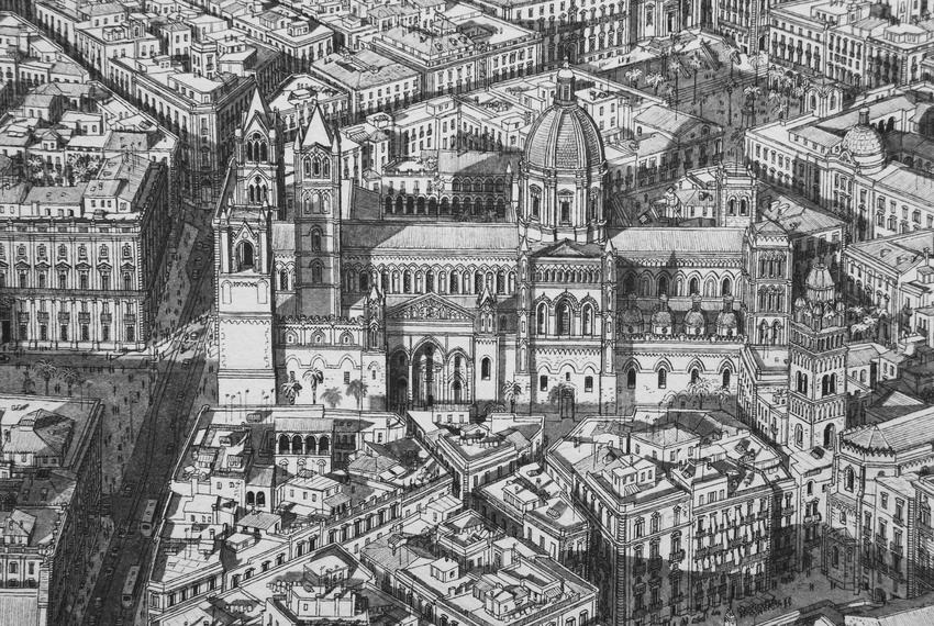 Stefan Bleekrode Cityscapes from Memory Rome cathedral