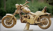 Read more about the article Harley Davidson Made Out Of Wood