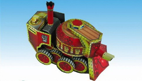 Read more about the article Steam Tank – Steampunk Paper Craft Model