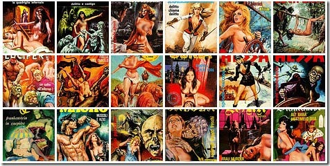 Read more about the article Retro Italian Adult Comic Book Covers Gallery
