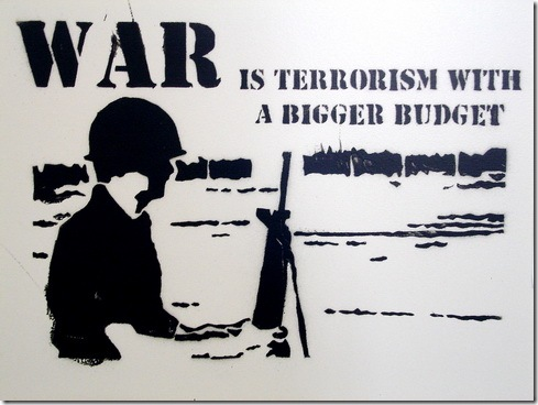 Read more about the article War is Terrorism – Street Art