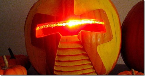 Read more about the article Cylon Jack-O-Lantern – Cool DIY Halloween Project