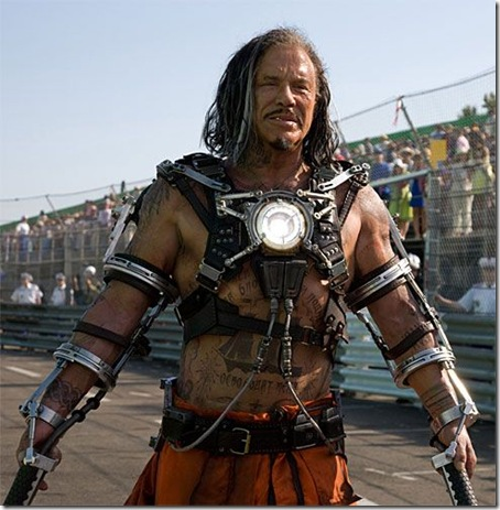 Read more about the article First Look at Mickey Rourke as Whiplash in Iron Man 2