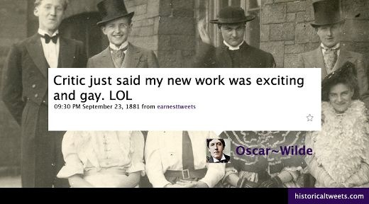 Read more about the article A Tweet From Oscar Wilde