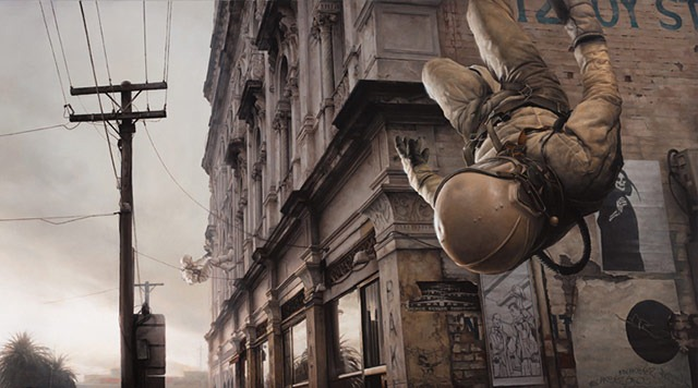 Read more about the article Photorealistic Paintings of Astronauts By Jeremy Geddes