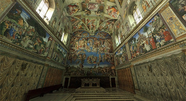 Read more about the article Amazing 360° Panorama of The Sistine Chapel