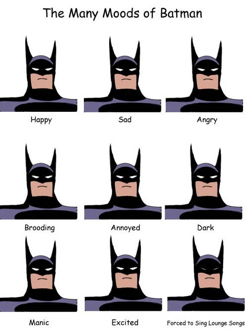 Read more about the article The Many Moods of Batman