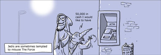 Read more about the article Jedi Misusing Their Force – Comic Strip