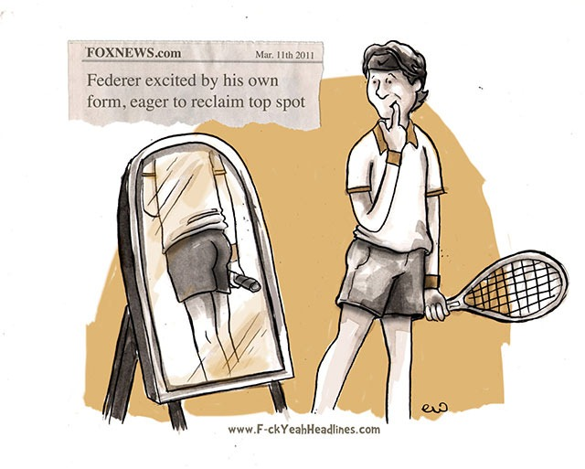 Read more about the article Federer Excited by His Own Form [Comic]