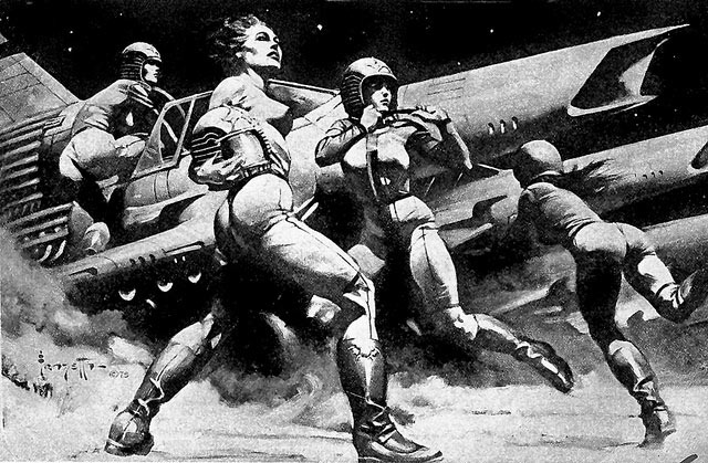 Read more about the article Battlestar Galactica Illustration by Frank Frazetta