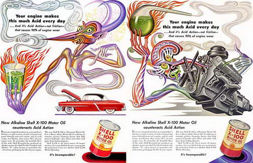 Read more about the article Vintage Trippy Ad for Shell Motor Oil