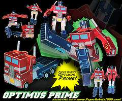 Read more about the article Build you own Transforming Optimus Prime Paper Robot
