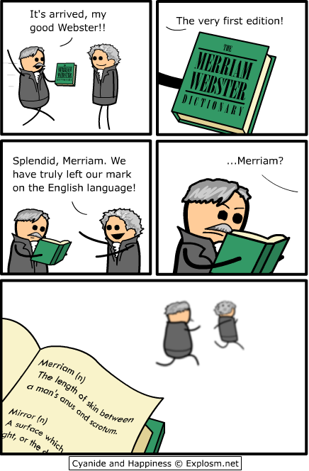 the definition of merriam funny comic from cyanide
