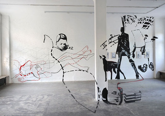 Read more about the article Joerg Mandernach's Amazing Tape Art Installation