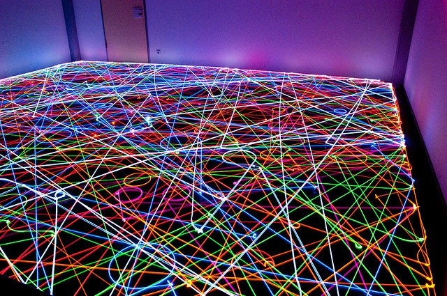 Read more about the article Psychedelic Roomba Swarm