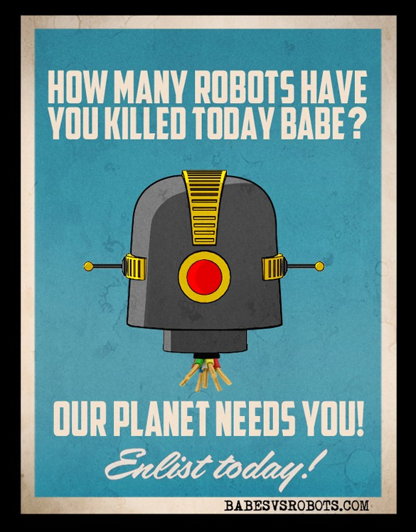 Read more about the article Babes vs. Robots – Retro Art Posters
