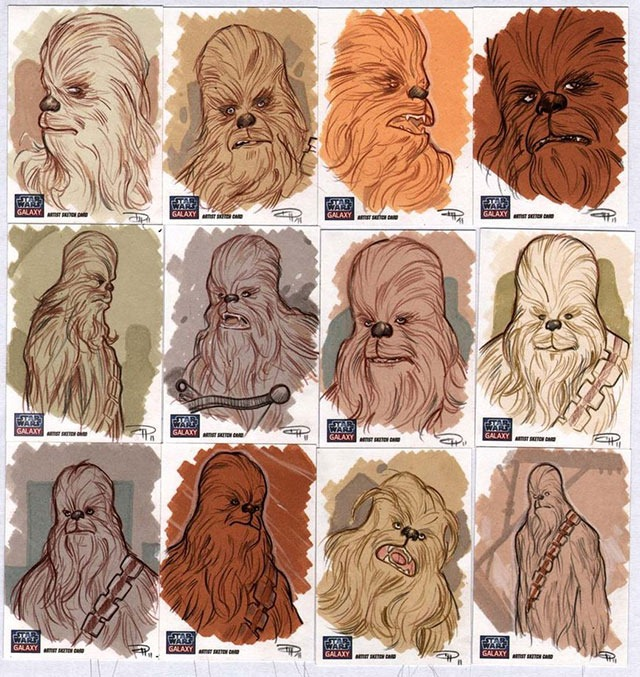 Read more about the article Chewbacca Sketch Cards