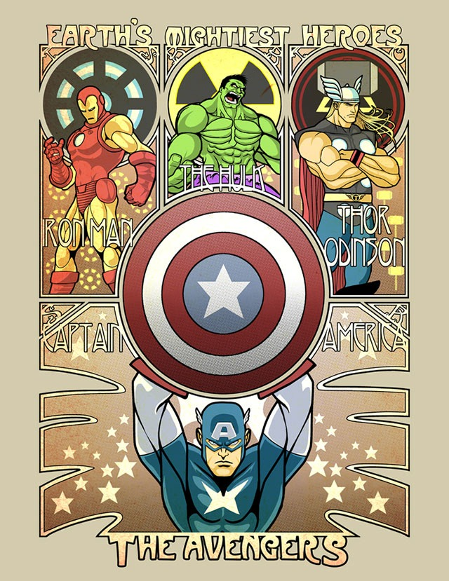 Read more about the article Art Noveau Avengers