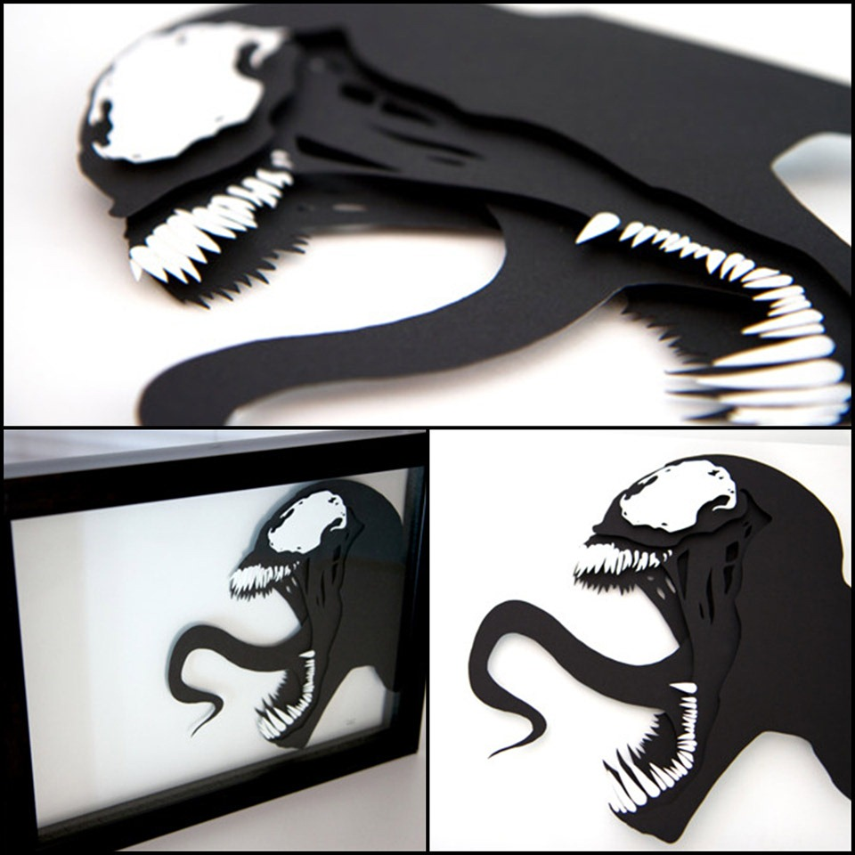 Read more about the article Venom – 3D Hand Cut Paper Craft by Will Pigg