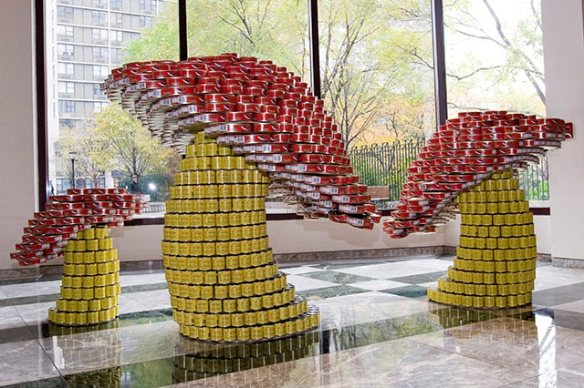 Read more about the article Giant Sculptures Made From Food Cans