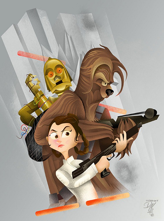 Read more about the article Leia and Chewie – Star Wars Art by Dave Mott