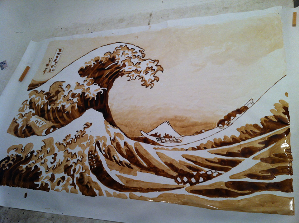 """Read more about the article """"The Great Wave"""" Painted Using Coke"""