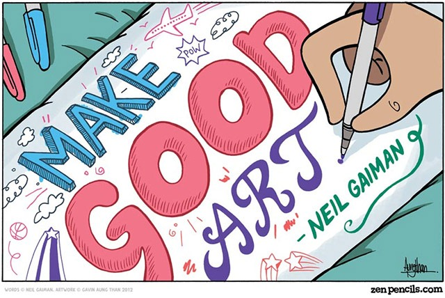 Read more about the article A Comic Based on a Neil Gaiman Commencement Speech