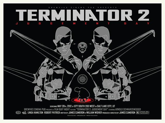 """Read more about the article """"Terminator 2"""" Movie Posters by Gold Sauce"""