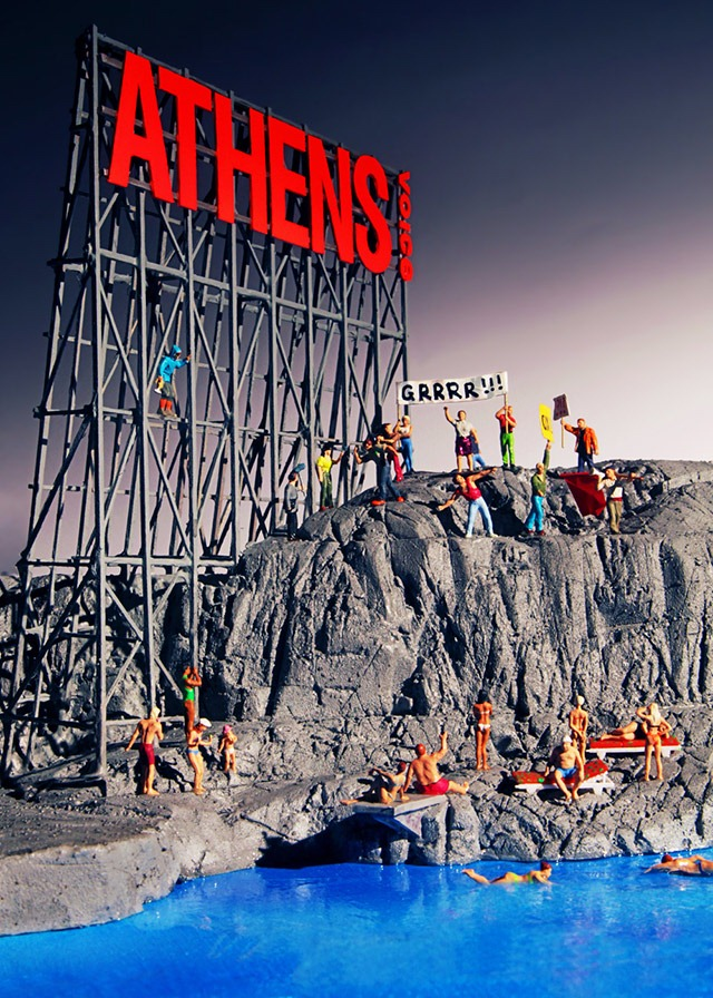 Read more about the article A Humorous Diorama of Athens Rocked by Protests