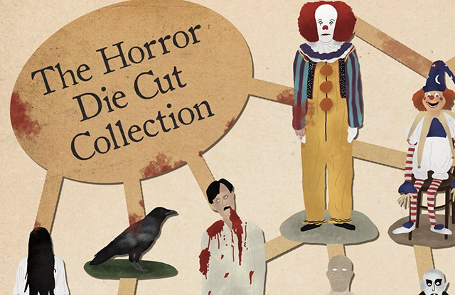 """Read more about the article """"The Horror Die Cut Collection"""" – Art Print by Max Dalton"""