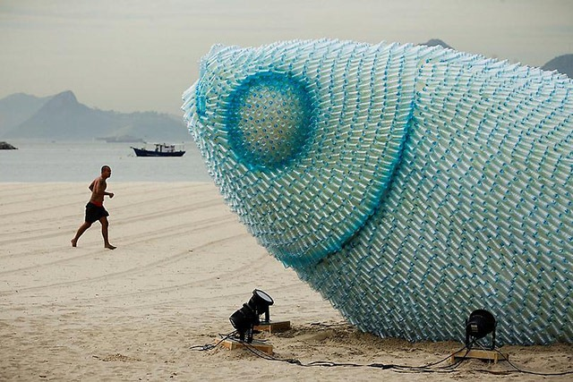 Read more about the article Giant Fish Sculpture Made With Plastic Bottles